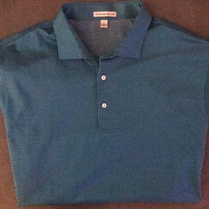 ⛳️ Peter Millar Men's Teal Golf Polo - L 🏌️♂️